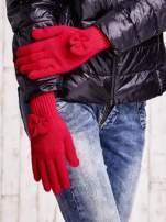 Grafitowe rękawiczki z kokardką i długim ściągaczem                                                                          zdj.                                                                         3
