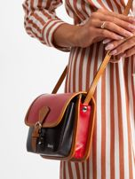 Czerwono-czarna damska torebka                                  zdj.                                  4