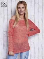 Czerwony melanżowy sweter z łezką na plecach                                  zdj.                                  5