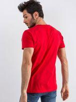 Czerwony męski t-shirt Public                                  zdj.                                  2