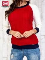Czerwony sweter o szerokim splocie                                  zdj.                                  1