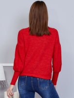 Czerwony sweter z szerokimi rękawami                                  zdj.                                  2