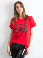 Czerwony t-shirt Kittens                                  zdj.                                  1