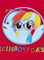 Czerwony t-shirt dla dziewczynki  motywem bajki MY LITTLE PONY                                                                           zdj.                                                                         6