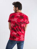 Czerwony t-shirt męski Moro                                  zdj.                                  2