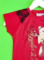 Czerwony t-shirt z koronką dla dziewczynki EVER AFTER HIGH                                  zdj.                                  3