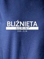 Damska bluza ze znakiem zodiaku BLIŹNIĘTA granatowa                                  zdj.                                  2