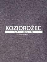 Damska bluza ze znakiem zodiaku KOZIOROŻEC ciemnoszara                                  zdj.                                  2