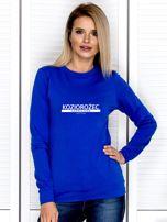 Damska bluza ze znakiem zodiaku KOZIOROŻEC kobaltowa                                  zdj.                                  1