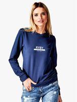 Damska bluza ze znakiem zodiaku RYBY granatowa                                  zdj.                                  1