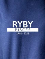 Damska bluza ze znakiem zodiaku RYBY granatowa                                  zdj.                                  2