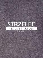 Damska bluza ze znakiem zodiaku STRZELEC ciemnoszara                                  zdj.                                  2