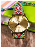 Damski zegarek. Styl BOHO. Pleciony pasek. Bardzo modny.                                  zdj.                                  2