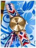 Damski zegarek. Styl BOHO. Pleciony pasek. Bardzo modny.                                  zdj.                                  1