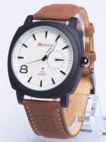 Dla Niego - Gustowny i nowoczesny piękny zegarek męski na skórzanym pasku                                  zdj.                                  1