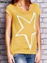 ESPRIT Żółty t-shirt z nadrukiem gwiazdy                                  zdj.                                  2