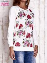 Ecru bluza w kwiaty                                  zdj.                                  3