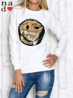 Khaki bluza z dwustronną naszywką z cekinów