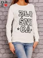 Ecru bluza z napisem ZŁOŚNICA                                  zdj.                                  3
