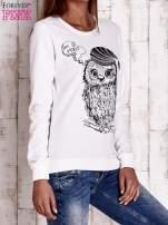 Ecru bluza ze zwierzęcym nadrukiem