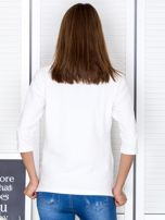 Ecru bluzka z bocznymi suwakami                                  zdj.                                  2