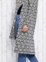 Ecru długi sweter z kapturem                                  zdj.                                  7