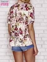 Ecru koszula z nadrukiem kwiatowym                                                                          zdj.                                                                         3