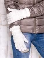 Ecru rękawiczki z ażurową warstwą