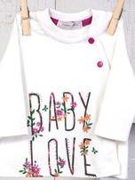 Ecru-różowy 5-elementowy 100% bawełniany zestaw niemowlęcy dla dziewczynki w kwiatuszki                                  zdj.                                  4