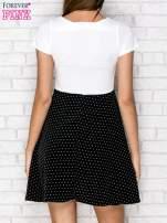 Czarna sukienka retro w groszki                                                                          zdj.                                                                         4