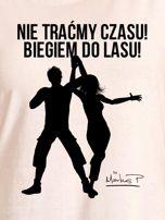 Ecru t-shirt damski NIE TRAĆMY CZASU by Markus P                                  zdj.                                  2