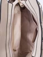 Ecru torba z klamrami z odpinanym paskiem                                  zdj.                                  5