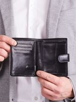 Elegancki pionowy portfel męski czarny                                  zdj.                                  10