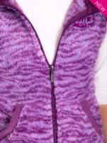 Fioletowa kamizelka w tygrysie cętki z kapturem z uszkami                                  zdj.                                  6