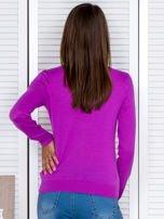 Fioletowy rozpinany sweter                                  zdj.                                  2