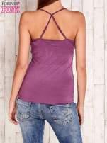 Fioletowy top na cienkich ramiączkach