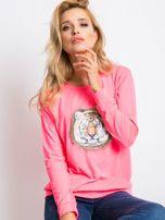 Fluo różowa bluza Palma                                  zdj.                                  1
