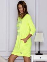 Fluo zielona sukienka LIKE A ROCK STAR                                  zdj.                                  5