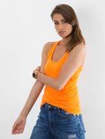 Fluopomarańczowy letni top damski typu bokserka
