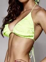 Fluozielony stanik od bikini z koronką                                  zdj.                                  4