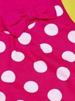 Fuksjowa sukienka w groszki dla dziewczynki FURBY