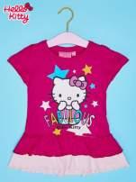 Fuksjowa tunika dla dziewczynki z motywem HELLO KITTY                                  zdj.                                  1