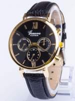 GENEVA Modny zegarek damski z dużą tarczą z ozdobnym datownikiem