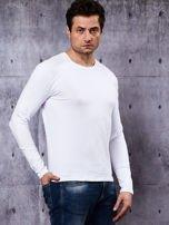 Gładka bluzka męska biała z długim rękawem                                  zdj.                                  6