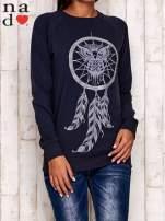 Grafitowa bluza z motywem sowy i łapacza snów                                  zdj.                                  1