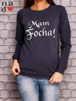 Grafitowa bluza z napisem MAM FOCHA                                  zdj.                                  1