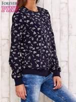 Granatowa bluza motyw buldożków