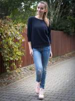 Granatowa bluza oversize z łączonych materiałów                                  zdj.                                  9