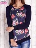 Granatowa bluza w kwiaty                                  zdj.                                  1