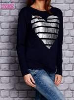 Granatowa bluza z sercem                                  zdj.                                  3